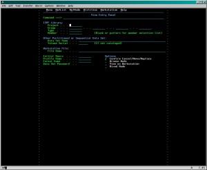 132桁×61行の端末画面例