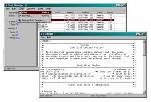 XMITされたソース(テキスト)データセットのメンバー内容の表示