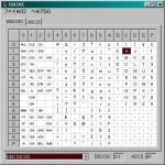 EBCDICコード表
